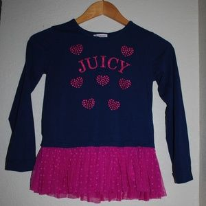 Juicy Couture Girls Shirt Sz 8/10